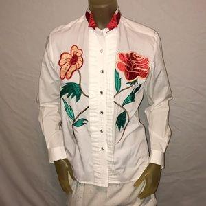 Amazing Vintage Wrangler Western Floral Shirt